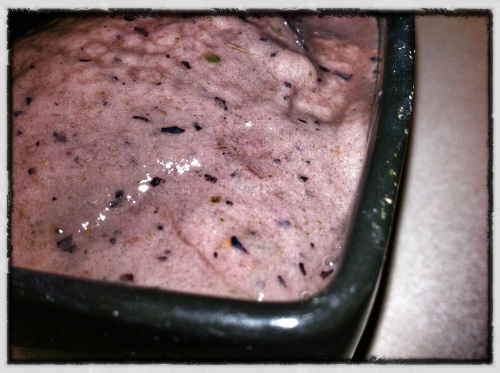 Blueberry Ginger Green Smoothie Ice Cream