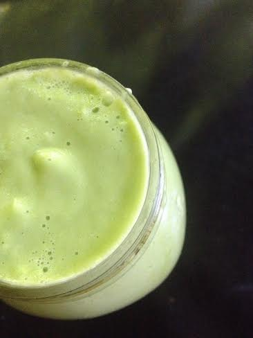 Garlic Cilantro Savory Green Smoothie